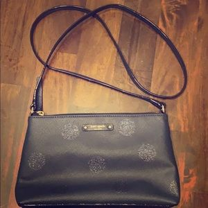 "Kate Spade, dark blue evening bag. 10""X6""."